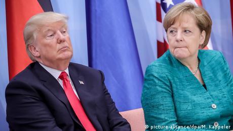 G20 in Hamburg | Trump & Merkel (picture-alliance/dpa/M. Kappeler)