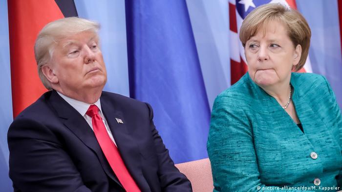 Дональд Трамп та Анґела Меркель у Гамбурзі - у рамках візиту американського президента до Німеччини