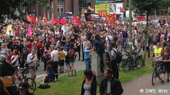 G20 Gipfel in Hamburg | Demonstration Willy-Brandt-Straße