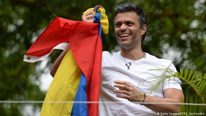Leopoldo López tras su excarcelación.