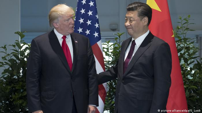 G20 Gipfel in Hamburg | Trump & Jinping (picture-alliance/dpa/S. Loeb)