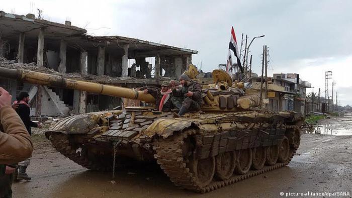 Syrien Daraa Syrische Truppen (picture-alliance/dpa/SANA)