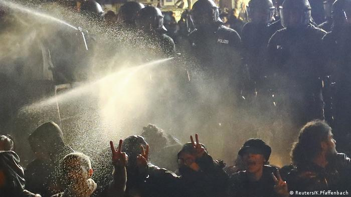 Police tear gas unarmed protesters
