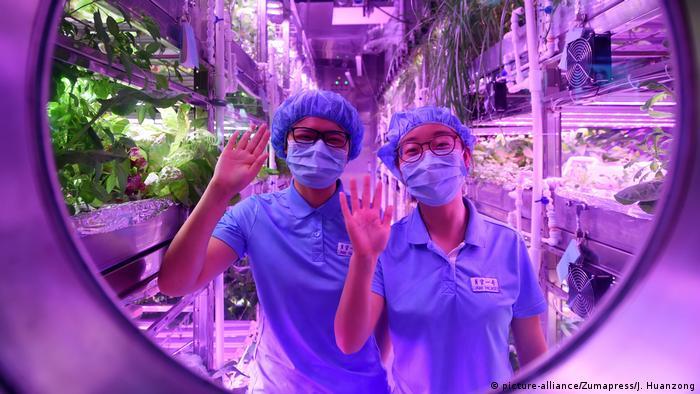 China Raumfahrtprojekt Lunar Palace 365 an der BUAA Universität in Beijing (picture-alliance/Zumapress/J. Huanzong)