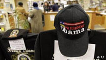 نام اوباما بر کلاه جوانان