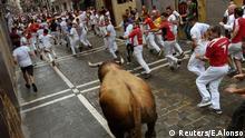 Pamplona Spanien Stierhatz