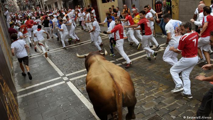 Pamplona Spanien Stierhatz (Reuters/E.Alonso)