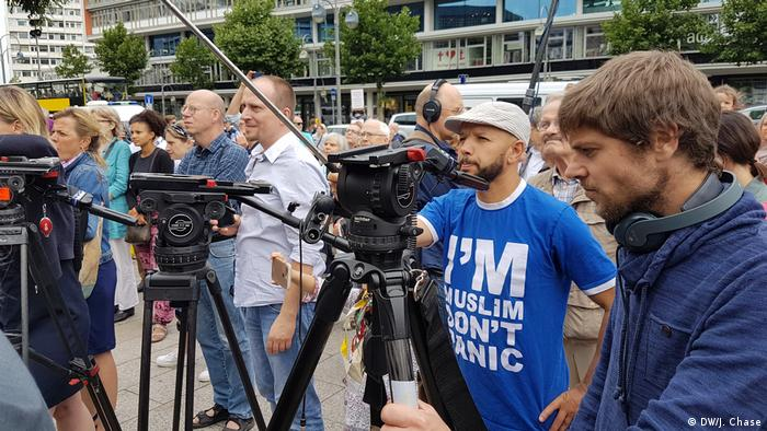 Cameramen covering the event in Berlin (DW/J. Chase)