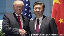 Deutschland G20 Gipfel in Hamburg Donald Trump und Xi Jinping
