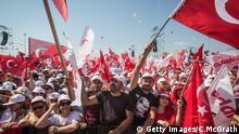 Türkei, Istanbul, Gerechtigkeits-Demo, die von der Partei der Oppositionspartei der Türkei abgehalten wird