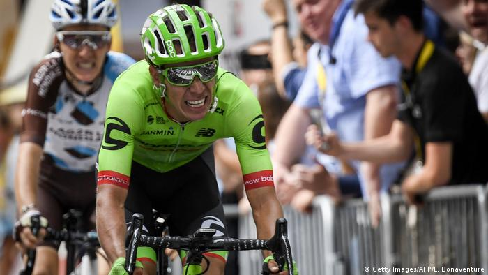 Tour de France 2017, 9. Etappe   Etappensieger Rigoberto Uran, Kolumbien (Getty Images/AFP/L. Bonaventure)