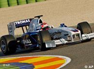 El BMW de Robert Kubica.