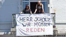 G20 Gipfel in Hamburg | Plakat - Herr Scholz wir müssen reden