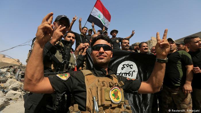 Irak Mossul Rückeroberung Jubel Soldaten