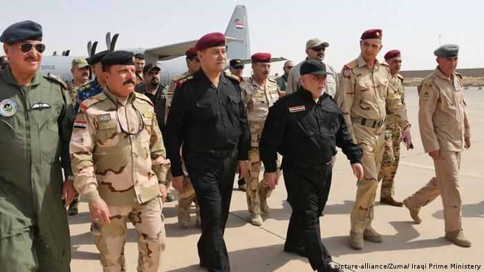 Irak Mossul Rückeroberung Besuch Premier Al-Abadi (picture-alliance/Zuma/ Iraqi Prime Ministery)