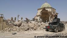 Irak Mossul Moschee Ruinen Armee
