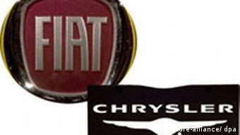 The Chrysler and Fiat logos