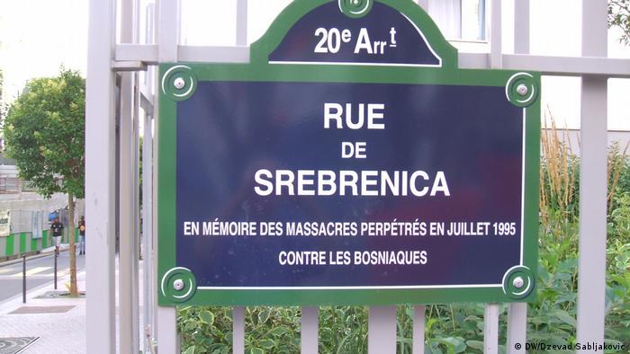 Frankreich Srebrenica Straße in Paris (DW/Dzevad Sabljakovic)