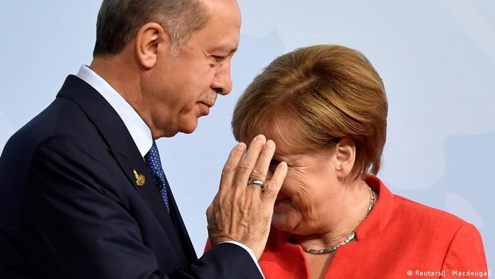 G-20 summit in Hamburg Merkel und Erdogan