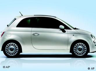 In this image provided by Fiat, Wednesday, March 21, 2007, the new Fiat 500 car, that will be officialy presented in Turin, on July 4, 2007. On July 4, 1957, in Turin, Fiat presented the Nuova Fiat 500, exactly 50 years later Fiat will present the new Fiat 500 which will marketed immediately after the launch. (AP Photo/Fiat, h.o.)