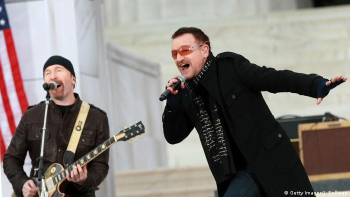 U2 at former US President Obama's 2009 inauguration (Getty Images/J. Sullivan)