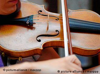 A violin being played