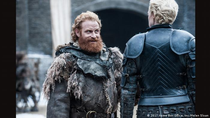 Wildling leader Tormund and warrior Brienne of Tarth could be gearing up for the ultimate battle (2017 Home Box Office, Inc./Helen Sloan)