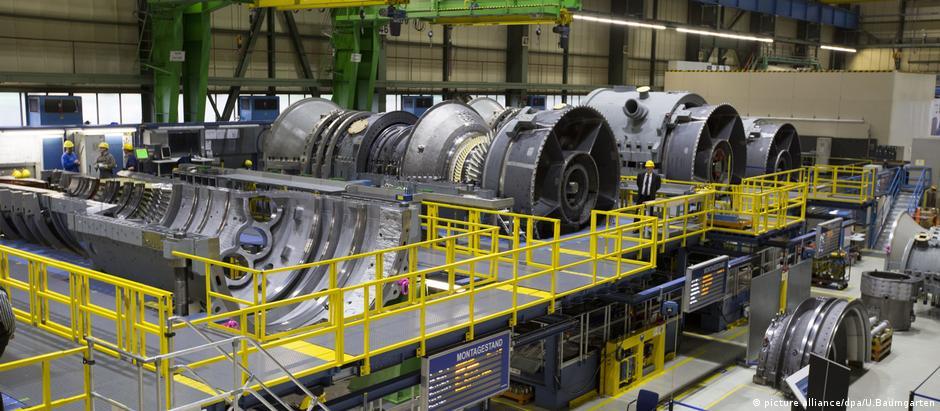 Turbinas a gás da Siemens