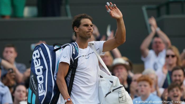 Großbritannien Wimbledon Rafael Nadal in London (picture-alliance/AP Photo/T. Ireland)
