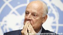 Schweiz Syrien-Friedensgespräche in Genf - Staffan de Mistura