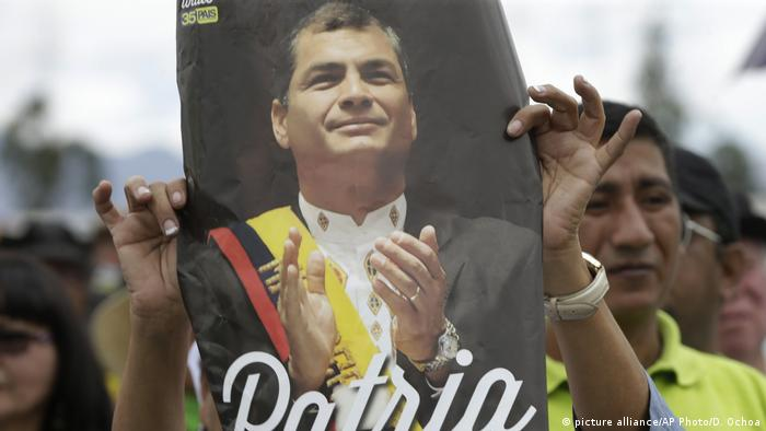 Ecuador Rafael Correa (picture alliance/AP Photo/D. Ochoa)