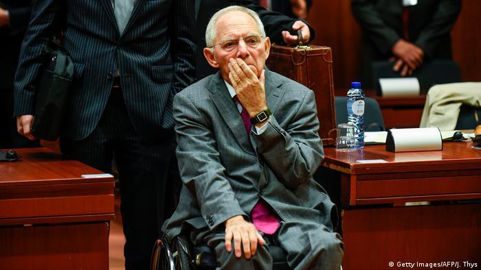 Brüssel Finanzminister Wolfgang Schäuble Ecofin Treffen (Getty Images/AFP/J. Thys)
