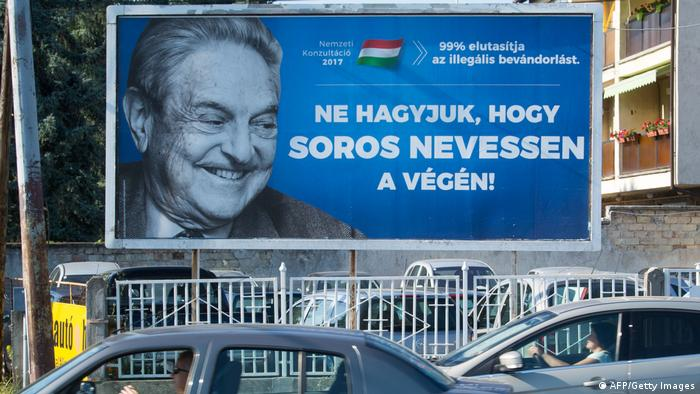 Ungarn | Anti-Soros Plakate (AFP/Getty Images)