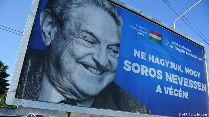 Anti-Soros posters (AFP/Getty Images)