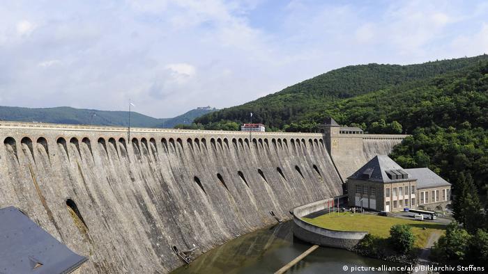 The Edersee reservoir dam