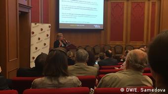 Кристин Линс на конференции в Сколково