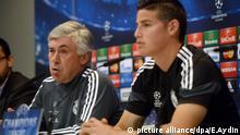 Carlo Ancelotti und James Rodriguez Real Madrid