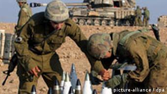 Israelische Soldaten mit Munition