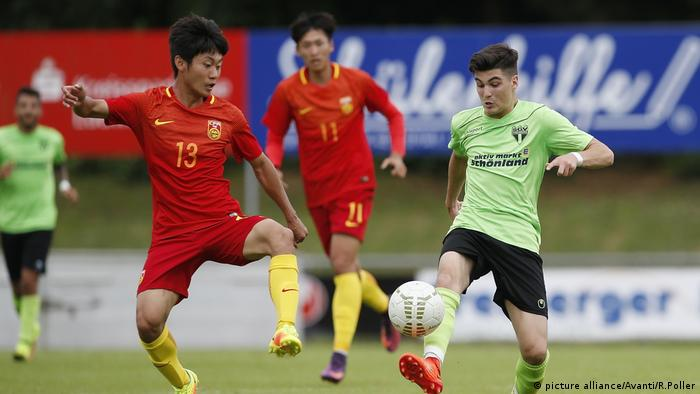 SGV Freiberg Fußball - Nationalteam China U20 (picture alliance/Avanti/R.Poller)
