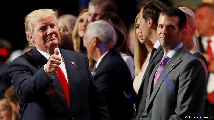 Donald Trump e seu filho mais velho, Donald Trump Jr