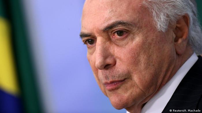 Temer foi denunciado por Janot em junho pelo crime de corrupção passiva