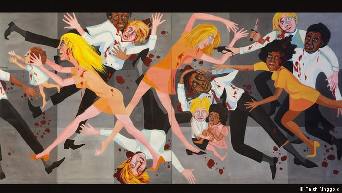 Faith Ringgold, American People Series #20: Die, 1967 (Faith Ringgold)