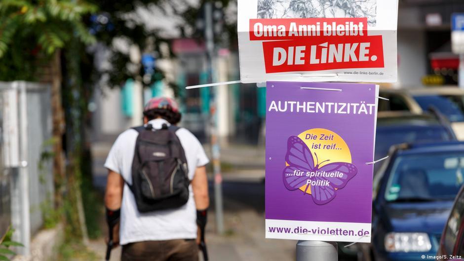 Wahlplakat der Partei die Linke und die Violetten 2016