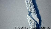 Aerial view of the rift in the Larsen C ice shelf (Reuters/NASA's Goddard Space Flight Center)