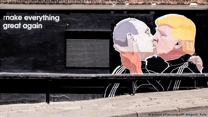 Litauen - Putin-Trump-Graffiti (picture alliance/dpa/M. Singer/K. Ruke)