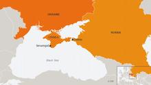 Karte Ukraine Russland Sewastopol ENG