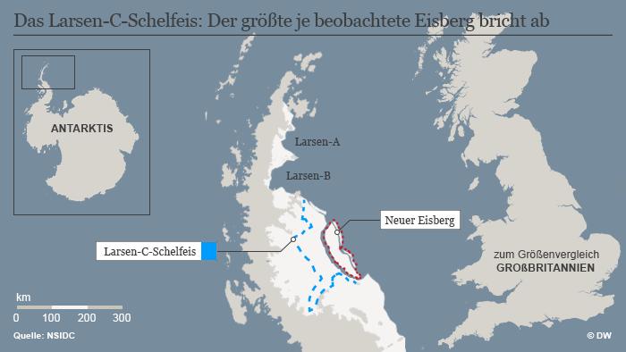 Infografik Larsen-C-Schelfeis Abbruch
