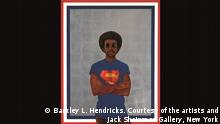 Barkley L. Hendricks Icon for My Man Superman (Superman Never Saved any Black People - Bobby Seale) 1969 Collection of Liz and Eric Lefkofsky Copyright: Barkley L. Hendricks. Courtesy of the artists and Jack Shainman Gallery, New York