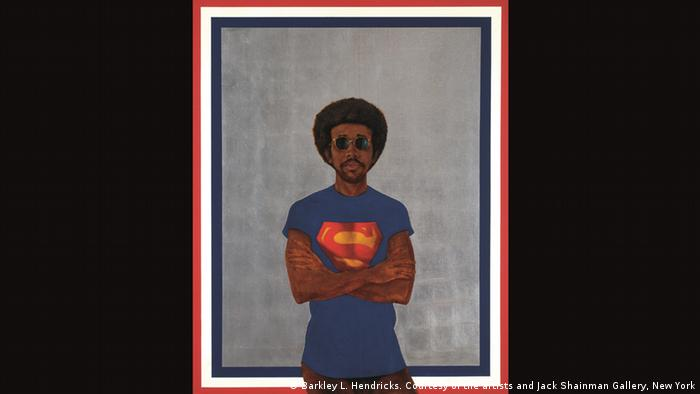 Barkley Hendricks, Icon for My Man Superman (Superman Never Saved Any Black People - Bobby Seale), 1969 (Barkley L. Hendricks. Courtesy of the artists and Jack Shainman Gallery, New York)