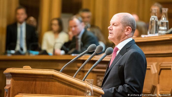 Declaración de gobierno del alcalde Olaf Scholz en Hamburgo